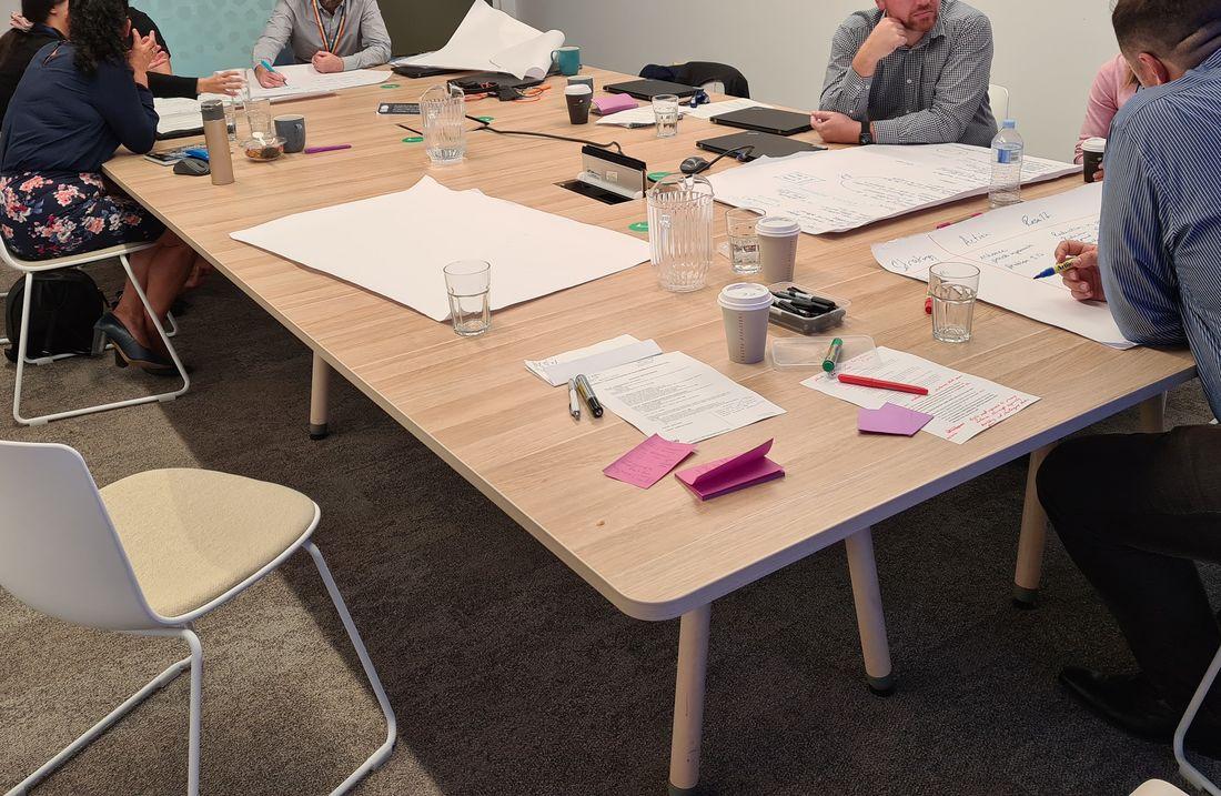 SSA team workshopping